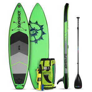 Slingshot Crossbreed 11' Airtech iSUP Package - Green - Allround Advanced