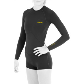 FOLLOW LADIES ATLANTIS LONGARM SHORTY 2021 WETSUIT - BLACK
